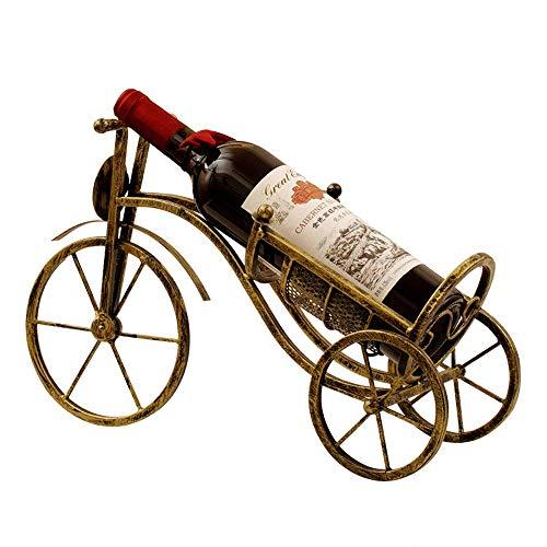 Vinteen Creative Home Weinregal, Bronze, europäischer Stil, Weinhalter, Retro, Vintage, Weineisenrahmen, Dreirad, Weinregal, Esstisch-Dekoration - Für Gefrierschrank Metall Rack