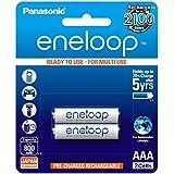 Panasonic Battery Eneloop BK-4MCCE/2BN 800mAh AAA Rechargable Battery - Pack of 2 (White)