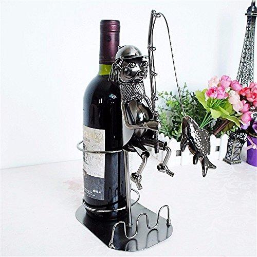 DZXYA Angeln Metall Handwerk Home vor der manuellen Anti-alte Wine Rack-Beschichtung