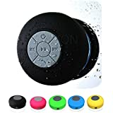 AUTOVALLEY Water Proof Shower Bluetooth Speakers With Mic Wireless Stereo Shower Speakers Portable Waterproof Bluetooth Wireless Stereo Shower Speakers, - Best For Bath, Pool, Car, Beach, Indoor/Outdoor Use Asorted Colors
