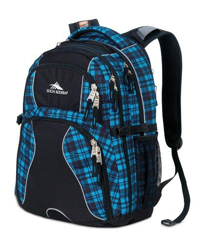 High Sierra Swerve Rucksack (19x 13x 7.75-inch, blau/schwarz kariert) (Daypack High Swerve Rucksack Sierra)
