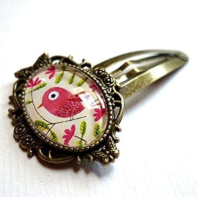 Clic-clac vintage, le bel oiseau rose