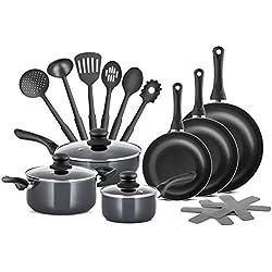 Star Chefs de qualité professionnelle en aluminium 15 pièces antiadhésives Pots & Pans Set Batterie de cuisine