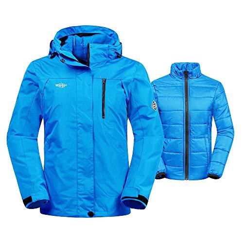 De Foncé Doublure Matelassé Ski Anorak 1 Small Wantdo Blouson Bleu Femme 3 Veste En Imperméable OZTkXilPwu