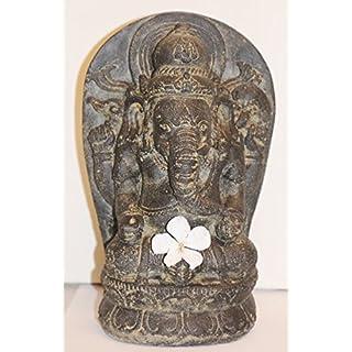 Ars-Bavaria Ganesha, der Elefantengott, Skulptur aus Sandstein im Antiklook, auch für den Garten