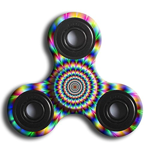 Hand Fidget Spinner,Omiky® Milky Galaxy Tri Fidget Spinner Aluminium Alloy Finger Groy Toy for SBDX ADD ADHD Anxiety Autism Suffers (# L)