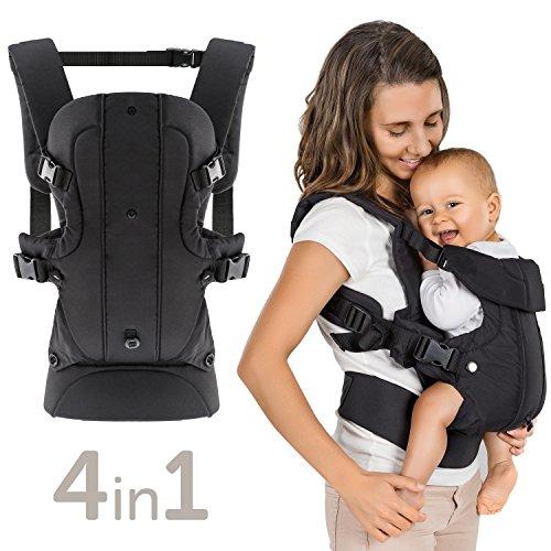 Marsupio Neonato Ergonomico / Porta Bebè 4in1 Frontale Schiena Fronte Strada variabile evolutivo regolabile per Bambini