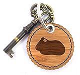 Mr. & Mrs. Panda Rundwelle Schlüsselanhänger Meerschweinchen - Meerschweinchen, Meerschwein, Schwein, Haustier, zahm, Wiese Schlüsselanhänger, Anhänger, Taschenanhänger, Glücksbringer, Schlüsselband