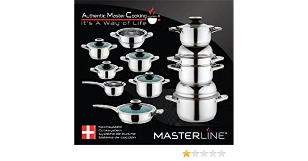 MASTERLINE Luxury Pots High-quality Stainless Steel Cookware