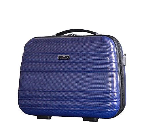 Vanity case rigide ,trousse toilette et maquillage pas cher Madisson 75402 (Bleu)