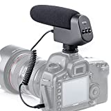 Nuevo BOYA by-vm600 Cardioide direccional 3,5 mm Micrófono de condensador escopeta micrófono Entrevista en la cámara para Canon, Nikon, Sony y Pentax cámara réflex digital (espuma y piel parabrisas incluido)