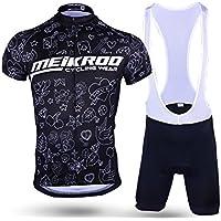 Pantalones de ciclismo Pantalones de montar en bic Traje de ciclismo para hombre + pantalón corto con relleno 3D Bañador de secado rápido y traje transpirable XL ( Color : Battle Axe , tamaño : XL )