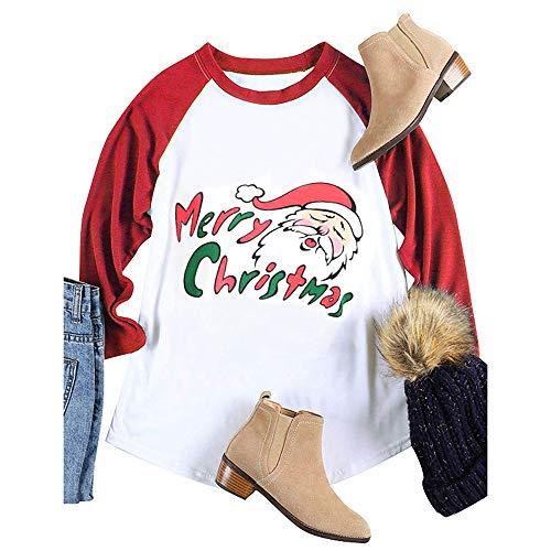 Preisvergleich Produktbild TianWlio Frauen Langarmshirt Bluse Hoodie Pullover Langarmshirt Kapuzenpullover Sweatshirt Herbst Schaf Drucken Rundhals Bluse Weihnachten Langarm Lose Tops