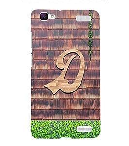 YuBingo Vivo V1 Max Designer Phone Back Case Cover ( Dashing Letter D (Wooden Finish Printed on Plastic) )
