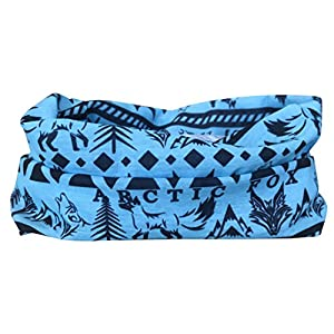 518tXANr%2BXL. SS300  - Arctic Aura Blue Aztec Multifunctional Scarf - Ski Mask and Headband for Snowboarding, Hiking, Running, Camping Outdoor Sports