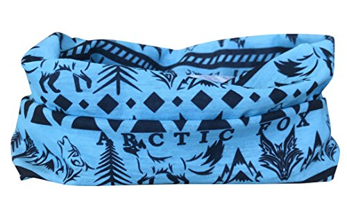 Blue Aztec Multifunctional Seamless Bandana Headwear: Neck Warmer, Face Mask, Headband For Men & Women, Face Mask For Outdoor Activities – Versatile Snood For Hiking, Camping, Running, Sports & Snowboarding By Arctic Aura Apparel