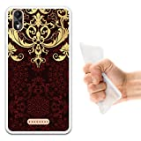 WoowCase Wiko Lenny 4 Plus Hülle, Handyhülle Silikon für [ Wiko Lenny 4 Plus ] Luxus Barockmuster Handytasche Handy Cover Case Schutzhülle Flexible TPU - Transparent