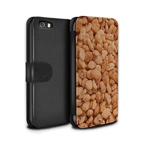 Stuff4 Coque/Etui/Housse Cuir PU Case/Cover pour Apple iPhone 5/5S / Golden Nuggets Design / Céréale Collection Rice Krispies