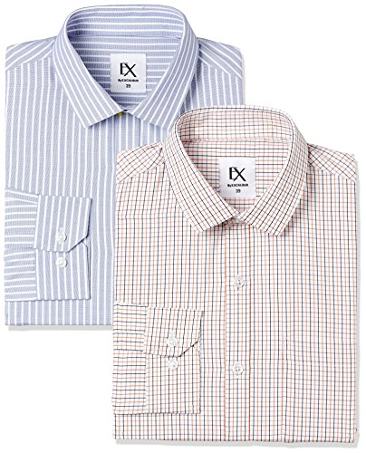 Excalibur by Unlimited Men's Solid Regular Fit Formal Shirt (Pack of 2) (275368816 ASSORTED 40)