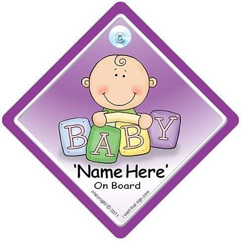 Baby On Board, personalizzabile Cartello