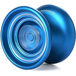 XCSOURCE® Juguete Aleación Aluminio Esfera Bobina Rodamiento Regalo Magic YOYO Color Azul + Cuerda TH113