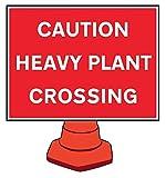 Caledonia signos 58209señal, precaución pesado planta cruce reflectante cono