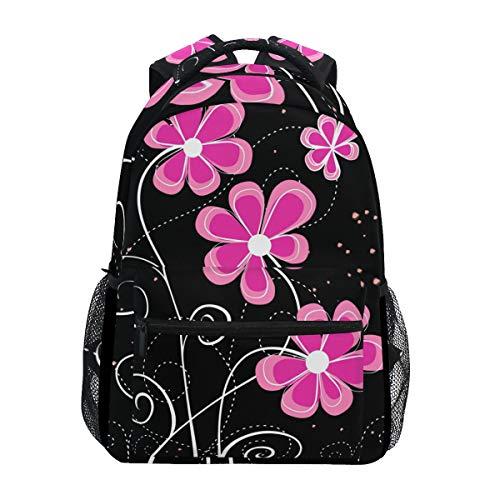 Ahomy Schulrucksack, Buchtasche für Teenager Mädchen Jungen, Gruß-Blumen-Reiserucksack, Umhängetasche, Wandertasche für Damen und Herren