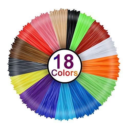 Filamento PLA 1,75 mm con 24 Colori AMOLEN Penna 3D Filamento Ogni di 6 Metri Totale di 144 Metri