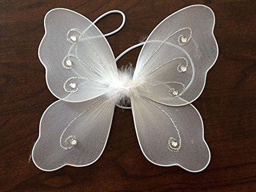 Kleinkinder sehr kleine Fee Flügel mit Silber Glitter und Juwel Detail 22cm x 20cm