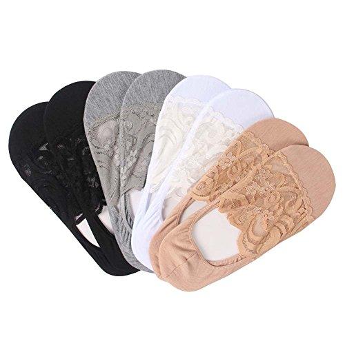 Damen Multicolor No Show Socken Low Cut Casual Socken, 8 Paare (Gestreifte Low-cut-socken)