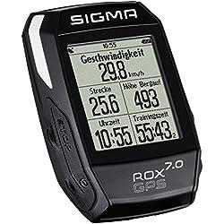 Sigma 01004 Ciclocomputador, ROX GPS 7.0, Color Negro, Talla Única