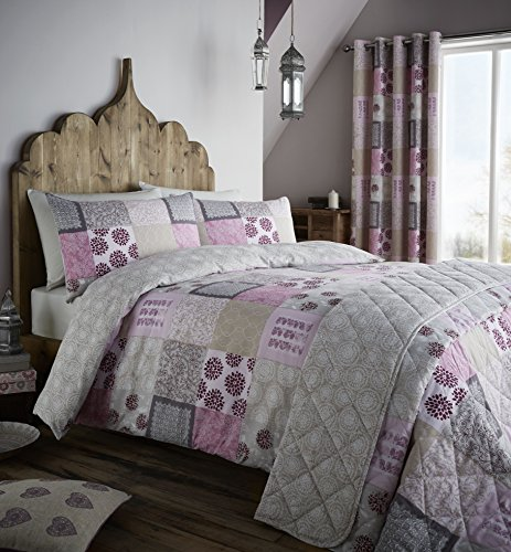 catherine-lansfield-ethnic-floral-patchwork-king-duvet-set-berry