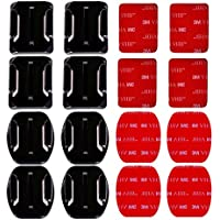 MAYISUMAI 16 PCS Helmet 3M Adhesive Pads Sticker Flat Curved Mounts Accessories kit for GoPro HERO 5 4 3+ 3