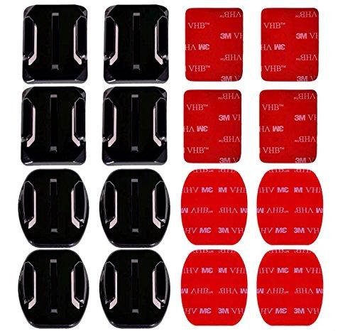 MAYISUMAI 16 PCS GoPro Helm 3M Kleber Pads Aufkleber Flache gebogene Halterungen Zubehör Kit für HERO 5 4 3+ 3