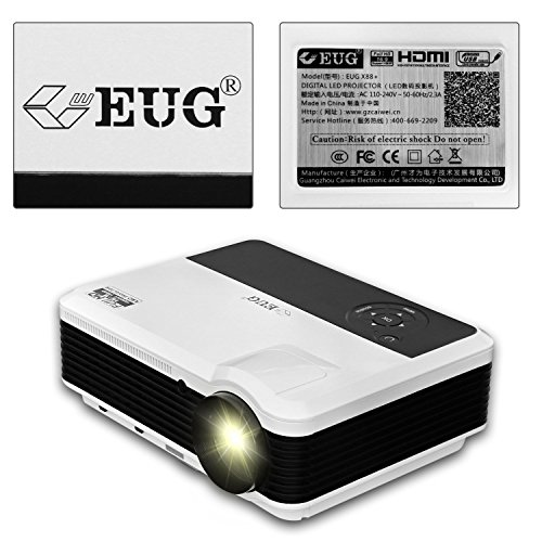 Best Price EUG Wi-fi Home Projector HD 3600 Lumen LED Video Projectors Digital TV HDMI USB VGA Audio for Notebook iPhone iPad Cell Phone PS4 Youtube LCD Cinema Beamer 1280*800 Reviews