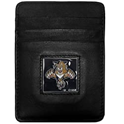 NHL Florida Panthers Genuine Leather Money Clip/Cardholder Wallet
