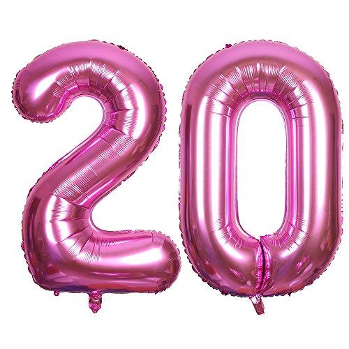 SMARCY Globos Número (20 Rosado)