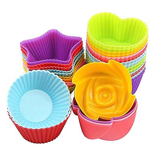 (mylifeunit Silikon Kuchen Form, Aluminiumguss und hitzebeständig Muffin Cups, 36pcs)