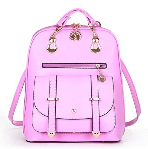 Mode Erwachsene Student Gemeinsame Klassische Wasserdichte Wilden Schultern Rucksack 28 21 Unzen (oz),Pink-OneSize (21 Unzen-paket)