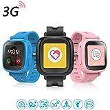 Oaxis Kinder Smart Watch Telefon für Kinder, Erste 3G SIM Karte Unterstützte Kind Smartwatch mit GPS Tracker Eignung Anti-verloren SOS Finder Geo Benzet Touchscreen