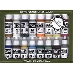 VALLEJO-3070146 70146 VALLEJO Model Color Set 16 CO, (3070146)