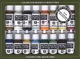 Vallejo Model Color Nava era del vapor de acrílico Pintura Set - Surtido de Colores (Pack de 16)