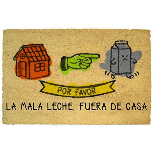 Felpudos Originales  con Diseño Mala Leche, PVC, Coco, 60 x 40 cm