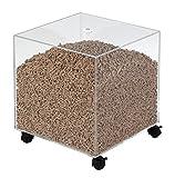 Les Ateliers Dixneuf 005.4101 Le Cube Rangement à granulés de bois