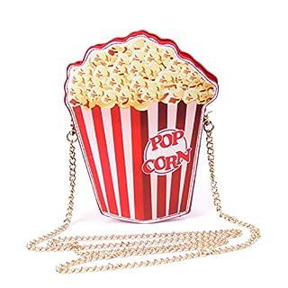 LUI SUI Mädchen Leder Cupcake Kuchen/Eiscreme/Popcorn Kleine Kreuz Körper Geldbörse Schultertaschen Süße Handtaschen