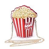 LUI SUI Borse da donna a forma di borsa a tracolla in pelle PU Cupcake/Gelato/Popcorn
