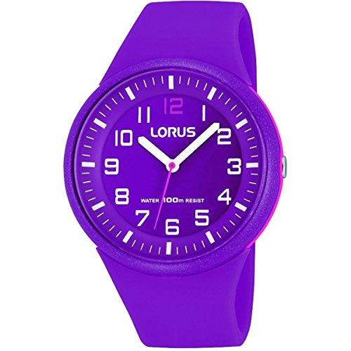 Lorus–rrx57dx9–Sports–Reloj Mujer–Cuarzo–Analógico–Reloj Color Morado–Pulsera Silicona Color Morado