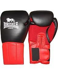 Lonsdale Performer Guantes de boxeo, todo el año, unisex, color rot/Schwarz, tamaño 414 ml