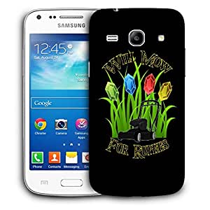 Snoogg Will Mow For Rupees Designer Protective Back Case Cover For Samsung Galaxy Core Plus