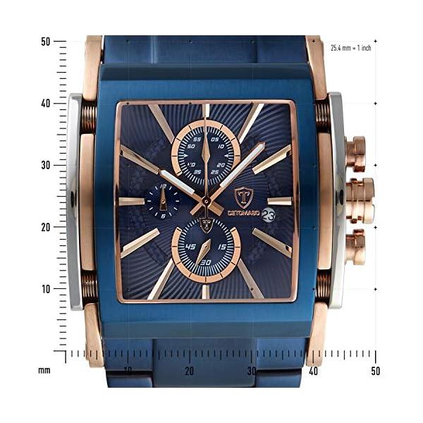 Detomaso San Leone de Hombre Reloj de Pulsera Cronógrafo analógico de